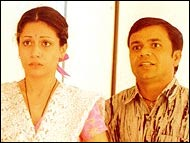 Antara Mali and Rajpal Yadav