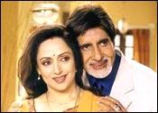 Hema Malini, Amitabh Bachchan in Baghban