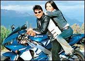 Ajay Jadeja and Celina Jaitley in Khel