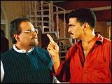 Satish Kaushik and Sayaji Shinde in Calcutta Mail
