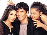 Namrata Barua, Milind Soman and Meera Vasudevan in Rules