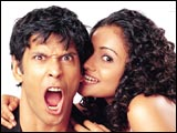 Milind Soman and Meera Vasudevan