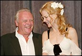 Anthony Hopkins and Nicole Kidman at the gala screening of The Human Stain in Toronto