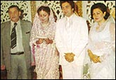 Raj Kapoor, Rishi Kapoor, Neetu Singh and Krishna Raj Kapoor