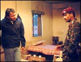 Rohit Shetty directs Ajay Devgan on the sets of Zameen