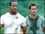 The Rock and Seann William Scott in 'The Rundown'