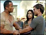 The Rock, Scott and Rosario Dawson in 'The Rundown'