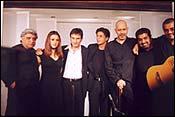 Javed Akhtar, Preity Zinta, Saif Ali Khan, Shah Rukh Khan, Loy Mendosca, Shankar and Ehsaan