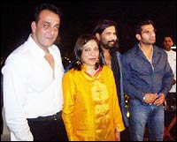 Sanjay Dutt, Mira Nair and Suniel Shetty