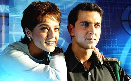 Preity Zinta and Hrithik Roshan