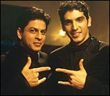 SRK and Zayed in Main Hoon Na