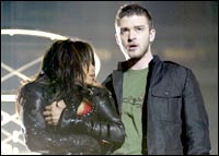 Janet Jackson and Justin Timberlake at the Super Bowl
