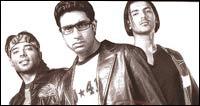 Uday Chopra, Abhishek Bachchan and John Abraham in Dhoom
