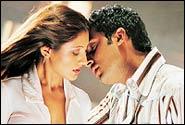 Rimii and Abhishek Bachchan in Dhoom