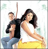 Salman Khan and Shilpa Shetty in Phir Milenge