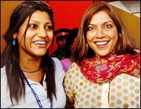 Konkana Sensharma and Mira Nair