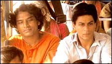 Pandey with SRK in Swades