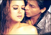 Priety Zinta and Shah Rukh Khan in Veer-Zaara