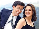 Hrithik Roshan and Preity Zinta in Koi... Mil Gaya