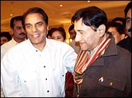 Dharamendra and Dev Anand