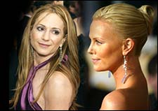 Holly Hunter and Charlize Theron