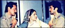Jackie Shroff, Raakhee and Anil Kapoor