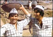 Dharmendra and Amitabh Bachchan in Sholay
