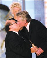 Danny Devito and Michael Douglas