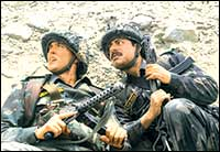Hrithik Roshan and Sushant Singh in Lakshya