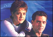 Preity Zinta, Hrithik Roshan in Lakshya