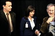 Tom Hanks, Catherine Zeta-Jones and Steven Spielberg