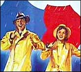 Gene Kelly and Debbie Reynolds in a still from Singin In The Rain