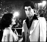 John Travolta in a scene from Saturday Night Fever