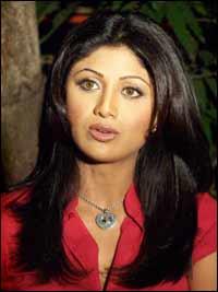 Shilpa Shetty on the sets of Garv