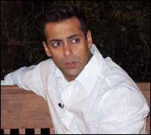Salman Khan on the sets of Garv
