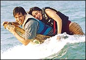 Vivek Oberoi and Kareena Kapoor in Yuva