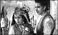 Dilip Kumar and Madhubala in Mughal-e-Azam