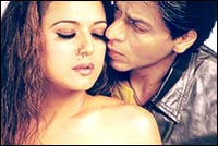 Preity Zinta, Shah Rukh Khan in Veer-Zaara