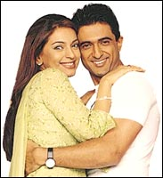 Juhi with Sanjay Suri