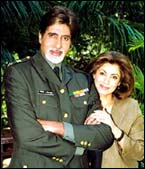 With Amitabh Bachchan in Hum Kaun Hai