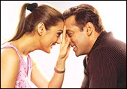 Preity Zinta and Salman Khan in DNJAK
