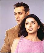 Salman Khan and Bhoomika Chawla in DNJAK