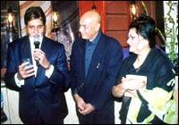 Amitabh Bachchan, Anwar Ali and Mona Mathur Ali