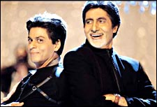 SRK and Amitabh in Kabhi Khushi Kabhie Gham