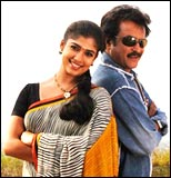 Nayanthara and Rajnikanth