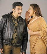 Kamal Haasan and Manisha Koirala in Mumbai Xpress