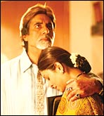 Amitabh Bachchan and Shefali Shah in Waqt