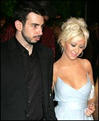 Christina Aguilera with fiancé Jordan Bratman