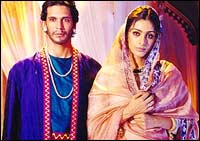 Milind Soman and Tabu in Bhaggmati