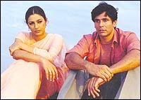 Tabu and Milind Soman in Bhaggmati